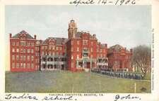 Bristol Virginia Institute Street View Antique Postcard K82638