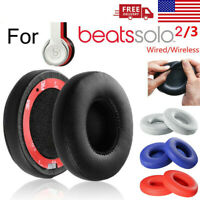 2pc Replacement Ear Pads Cushion For Beats Dr Dre Solo 2 Solo 3 Wireless Wired