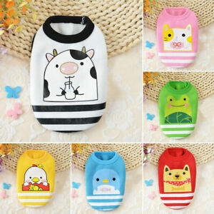 Cute Small Dog Cat Warm Vest Winter Fleece Cartoon Puppy Pet Cat Dog Clothes H0