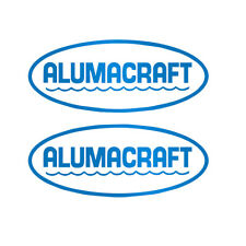 Set of 2 Vinyl Decals for Alumacraft Boat, truck, laptop, cup. Mailed w/tracking