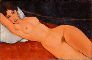 Oil On Canvas 90cm By 60cm hand- Painted Nude Reproduction  Amedeo Modigliani