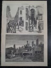 Steel Workers Strike Pittsburgh Pennsylvania  Harper's Weekly Print 1882