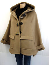 PRADA Milano Poncho Cape dufflecoat Taille 36 Camel Capuche wollmischung