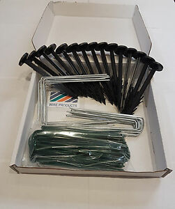 BEST QUALITY Artificial Grass Fixings MULTI PACK (60 x  Pegs & Pins)
