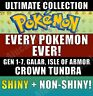 Pokemon Home - Every Pokemon! Sword and Shield - CROWN TUNDRA - FULL POKEDEX!