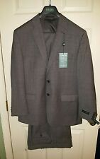 Polo Ralph Lauren Mens Wool 2 PC Suit 42Reg 36W Grey 2Btn Center Vent Pleat NWT