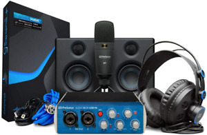kit de estudio de grabacion completo monitores de estudio y software grabación