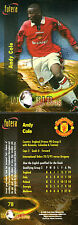 FUTERA 1998 MANCHESTER UNITED ANDY COLE WORLD CUP 98 CARD NUMBER 78