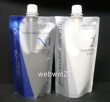 NEW SHISEIDO Straight Straightener Cream N1 N2 fine natural sensitized hair perm
