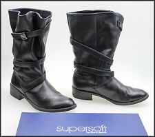 SUPERSOFT DIANA FERRARI WOMEN'S MID CALF LOW HEEL BOOTS SIZE 5 C