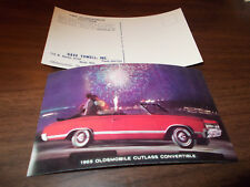 1965 Oldsmobile Cutlass Convertible Advertising Postcard