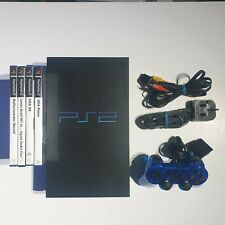 Sony PlayStation 2 Black Console & 4 games with new controller fully tested
