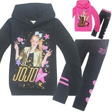 JOJO SIWA Girls long hoodie t-shirt and leggings set outfit size 2-10 Au stock