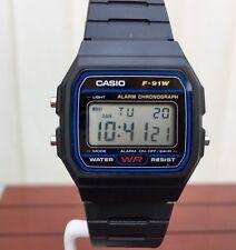 Casio F-91W-1YER Casual Resin Digital Watch - Black
