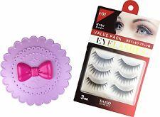 Daiso Purple Cute Case Bow Fairy Ribbon + 3 pairs False Eyelash Accessories