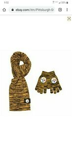 Pittsburgh Steelers Color Blend Scarf And Glove Set for Women