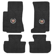 2009-12 Cadillac CTS-V Sedan & Wagon 4pc Ebony Black Floor Mats Set - Crest Logo