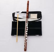 Professional Rose Wood Wooden G Tone Alto Flute Silver Keys With Pro Headjoint