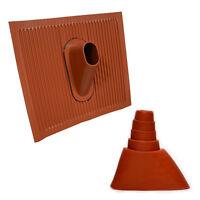 Universal ALU Dachabdeckung Dachziegel Mast Pfanne mit Gummimanschette 38-60mm