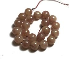 "8"" NATURAL SHINY Muscovite Round ~20 Beads 10mm K7004"