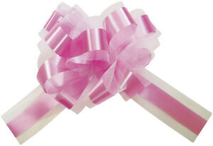 Big Tulle Pull Bows Pack Of Five 50mm Wedding Party Decoration**Free P&P**