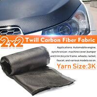 91cm x 31cm Carbon Fiber Cloth 2X2 Twill Fabric Weave 3k 12' 'Width For Car Bike