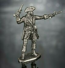 Pirate Captain Jack Sparrow Toy Soldiers Miniature 54mm Figurine Metal 1/32 Tin