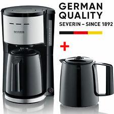 Severin Filter Kaffeemaschine 2x Thermoskanne Isolier Kanne Edelstahl - schwarz
