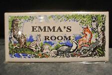 Vintage 1970s EMMA's ROOM Ceramic Bedroom Door Plaque by James Gerard & Co