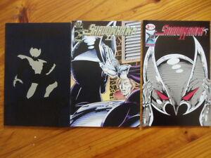 Lot of 3 comics Shadowhawk II #1-3 Image gimmick covers Jim Valentino FULL RUN