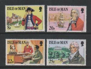 Isle Von Mann - 1981, Colonel Mark Wilks Set - MNH - Sg 197/200