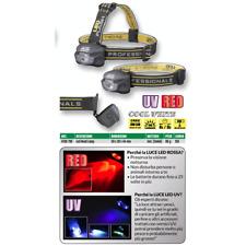 LAMPADA DA TESTA LED HEAD LAMP SPHL 150 RU LUMEN UV RED SPRO LUCE ROSSA PESCA