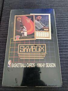 90-91 nba skybox series 1 factory sealed box 36 packs Jordan