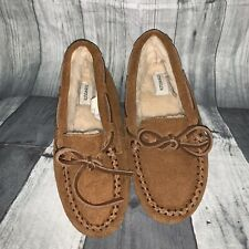 Crew Cuts J Crew Kids K2 Moccasin House Shoes Slippers Tan Furry Lining