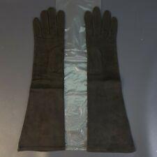 Vintage LIONEL LE GRAND Marshall Fields & Co. Black Long Gloves Sz 7.5 France