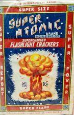 Vintage Super Atomic Collectible Fireworks Label