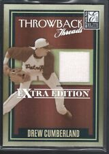 DREW CUMBERLAND 2007 DONRUSS ELITE EXTRA THROWBACK #TTDC GAME JERSEY 115/500 SP