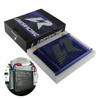 Fit Turbo Engine Transmission Oil Cooler An10 15 Row Universal Aluminum Blue