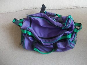 Purple and green sport bag
