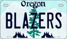 Blazers Oregon State Background Novelty Motorcycle Plate