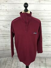 BERGHAUS Retro Zip Neck Top - Large - Burgundy - Great Condition