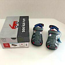 NWT See Kai Run Cyrus  grey Sandals Sz 10 water friendly machine washable