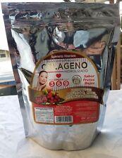 1X Colageno Hidrolizado 500g, Omega 3-6-9 ( Q10 )(Sabor Frutos Rojos ) ( 1 Bag )