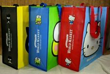 Hello Kitty and Friends Keroppi Badtz-Maru Reusable World Market Shopping Bags