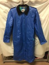 Vintage Misty Harbor Mens Blue Lined Rain Trench Coat Sz M