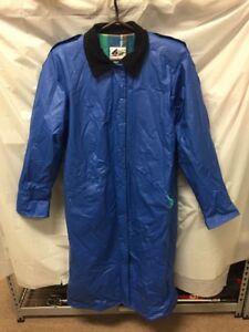 Vintage Misty Harbor Mens Blue Lined Rain Trench Coat Sz M