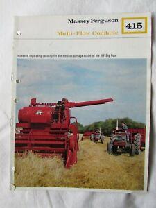 @Massey Ferguson 415 Multi-Flow Combine Brochure-6 Pages@