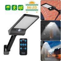 56LED Solar Motion Sensor Wall Light Outdoor Street Patio Lamp+Remote Control