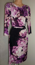 PHASE EIGHT PRETTY LADIES COCKTAIL PARTY FLORAL STRETCH DRESS SIZE 18