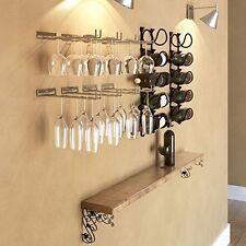 Wine Glass Rack Stemware Under Cabinet Holder Hanging Bar Hanger Kitchen Storage
